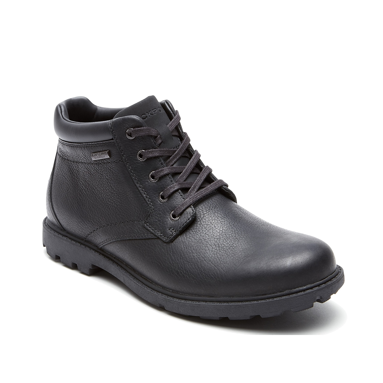 Keep your look timeless with the Storm Surge boot from Rockport. These leather lace-ups feature a waterproof finish and a slip-resistant sole to keep your safe and dry wherever you go.