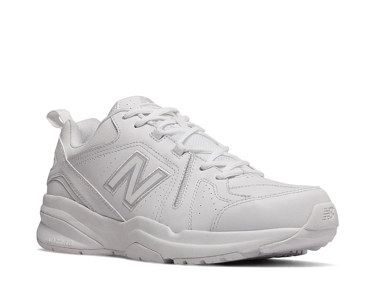 New Balance 608 V5 Training Shoe - Men's : Color - White/Navy, Size - 9.5 (432275)