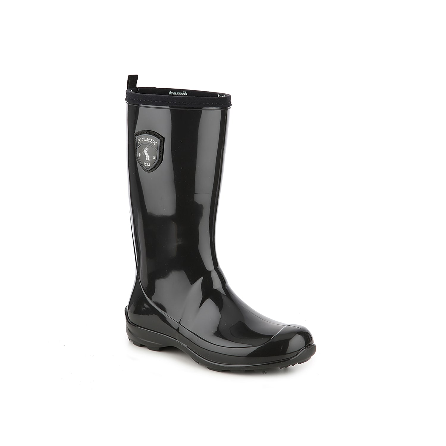 Keep your style sleek even when it\\\'s raining in the Marina rain boot from Kamik. A waterproof rubber construction and traction sole will keep you stable and dry! Click here for Boot Measuring Guide.
