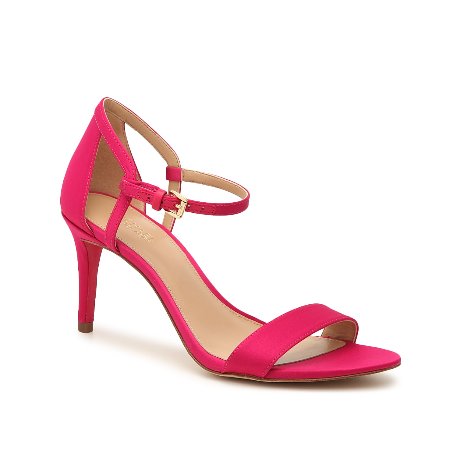 For a twist on tradition, the Michael Michael Kors Simone sandal is fashioned with an asymmetrical strap that\\\'s delicately attached by a metallic buckle.