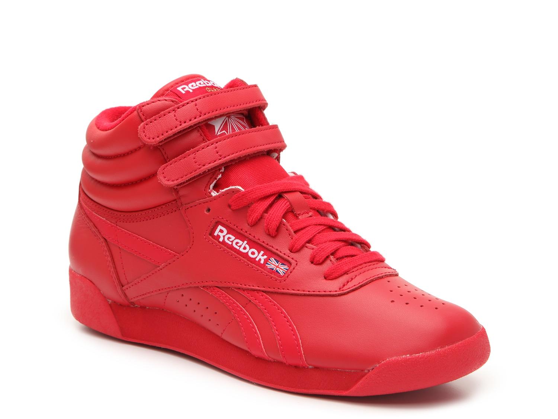 red reebok high tops
