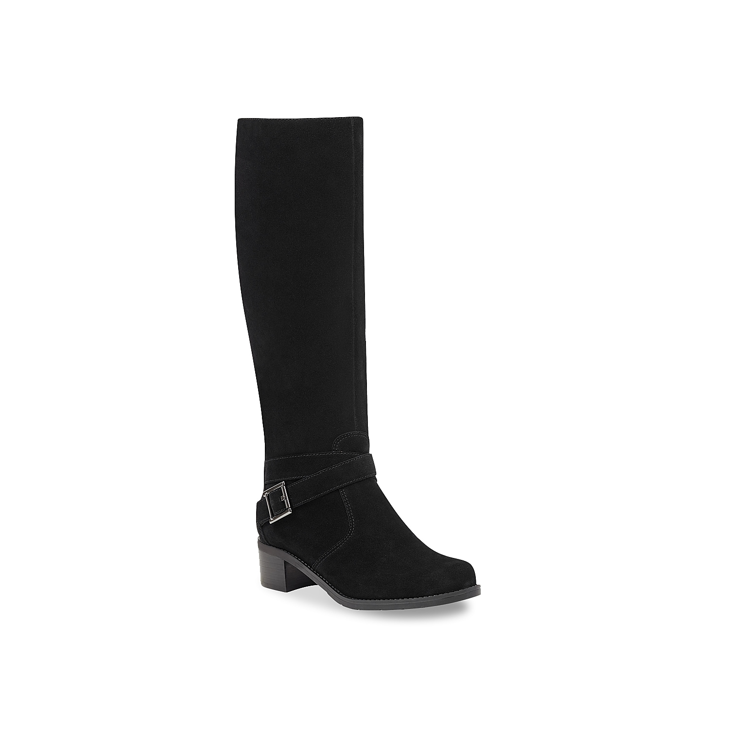 The Nitefall riding boot from Easy Spirit will give your ensemble a long-lasting look. This silhouette features a tall shaft and accented with a buckle detail that will spruce up your outfit! Click here for Boot Measuring Guide.