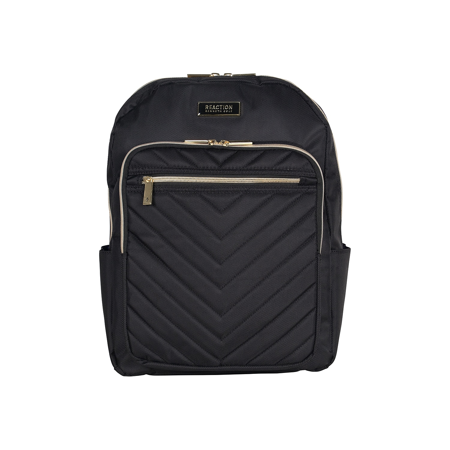 Whether you use the Chevron backpack every day or just for traveling, this laptop bag from Kenneth Cole Reaction will keep personal items secure. Designed to protect technology with its padded lining, this essential accessory is spacious and organized. A rear trolley strap fits over most upright luggage handles for versatile carrying.