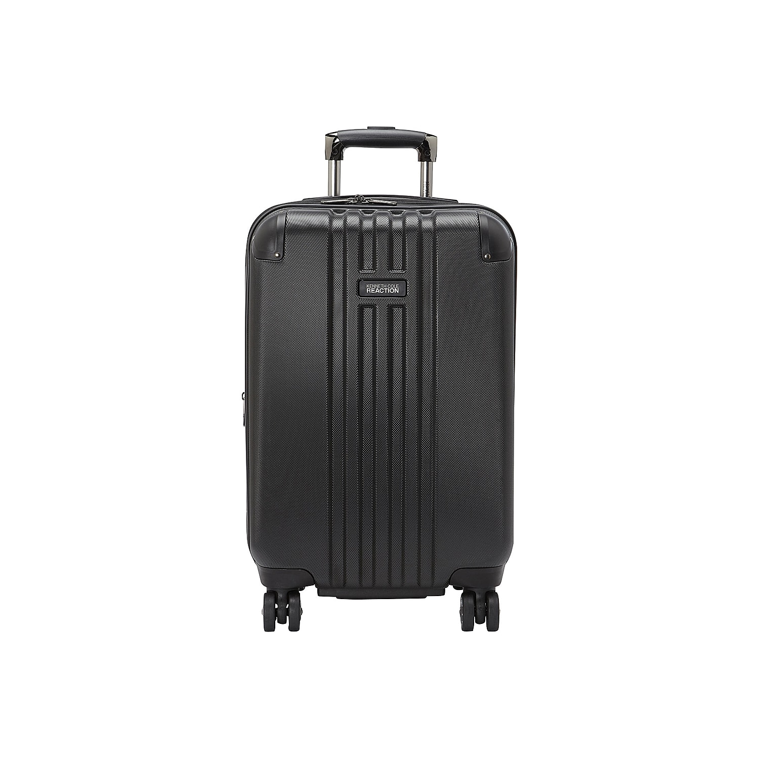 Fly through airport terminals with this free-weight rolling suitcase from Kenneth Cole Reaction. The Corner Guard expandable luggage is fitted with 8 multi-directional spinners, molded reinforcements on all four sides, and a durable hardcase exterior. A lightweight construction helps you avoid additional airport fees, and the flexible handles allow for easy lifting into overhead bins or off of conveyor belts.