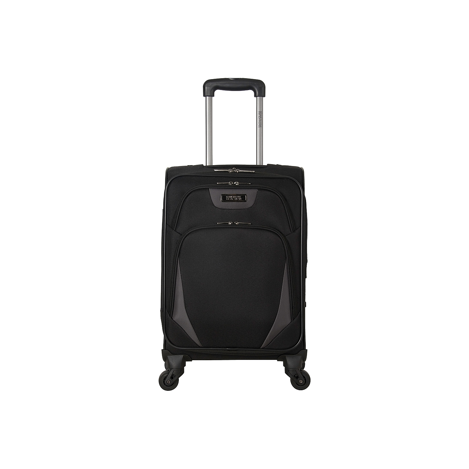 Breeze through airport security when toting this lightweight luggage from Kenneth Cole Reaction. The Poly expandable suitcase is fitted with 4 multi-directional spinners for effortless rolling. The flexible grab handles and locking retractable trolley handle allow make it easy to manage your carry-on.