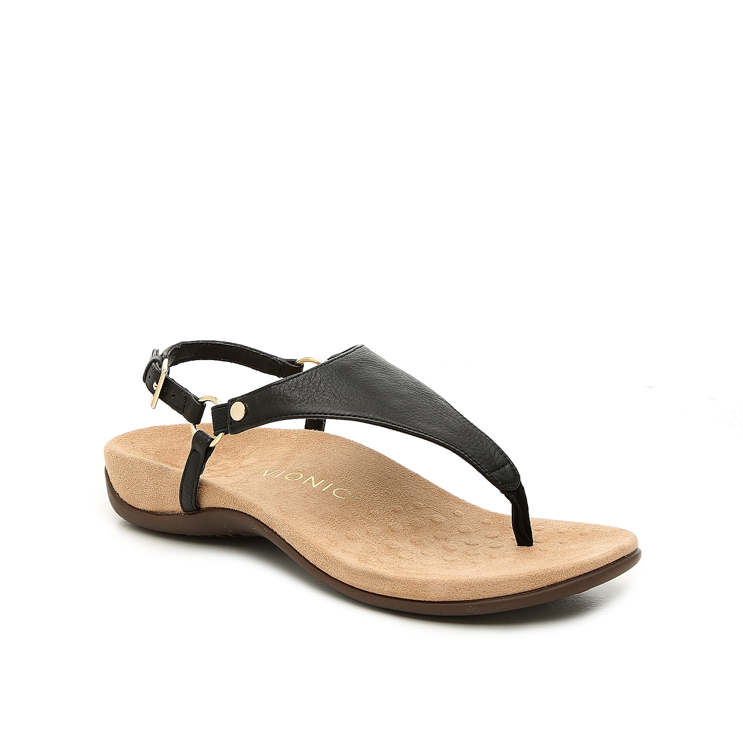 Feel supported throughout the day while wearing these Vionic sandals! The Kirra flat features a podiatrist-approved design that\\\'s contoured to the shape of your sole to provide improved cushioning at the arch and heel.