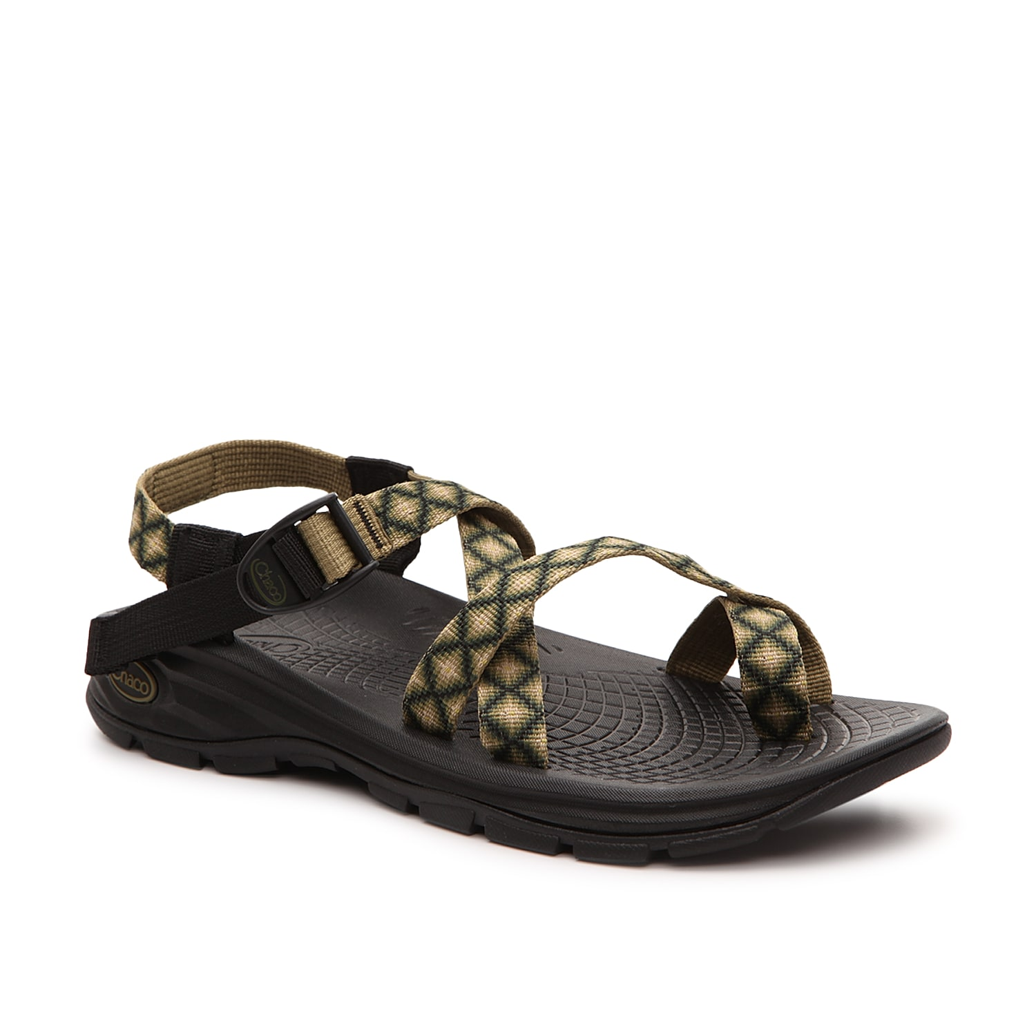 Fulfill your adventurous days with comfort when wearing the Zvolv sandal from Chaco. This casual pair features a modern design and an ECO Tread® rubber sole for all the traction and durability you\\\'ll need in a pair of shoes!