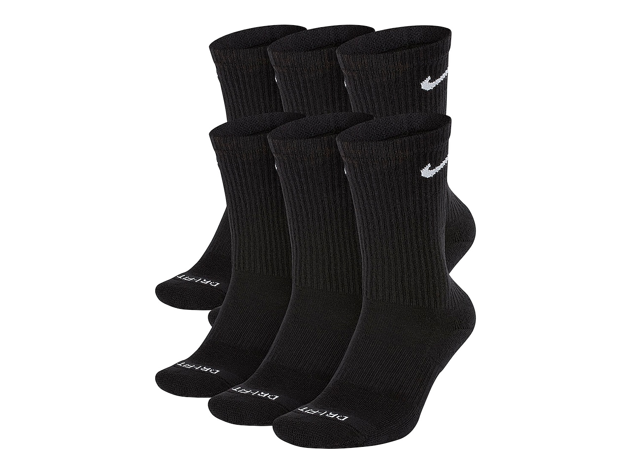 Cotton Cushioned Men's Crew Socks - 6 Pack