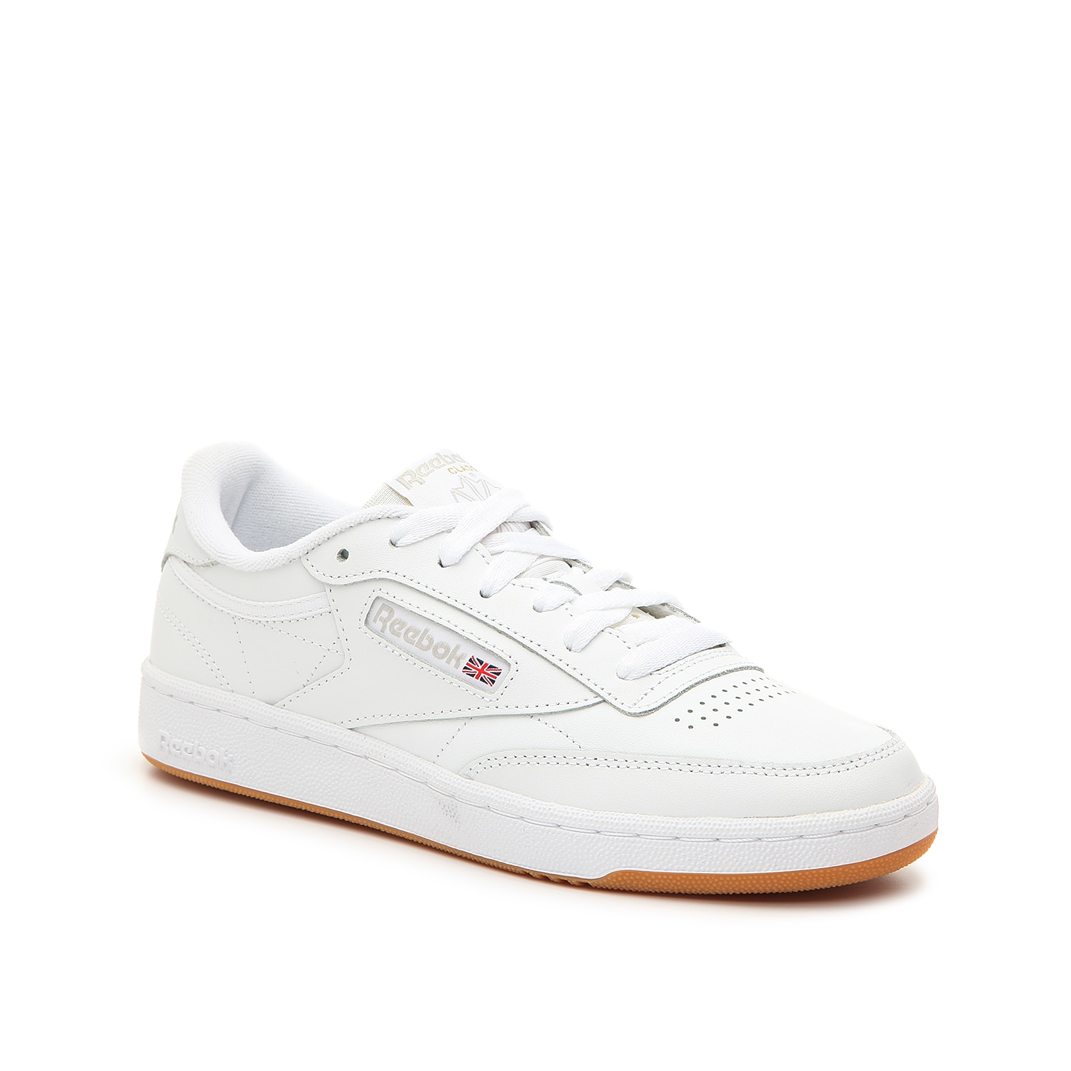 You\\\'ll feel all the street style vibes when wearing the Club sneaker from Reebok. This women\\\'s low-top features a leather finish and the perfect athleisure look you can pair with anything from jeans to t-shirt dresses!