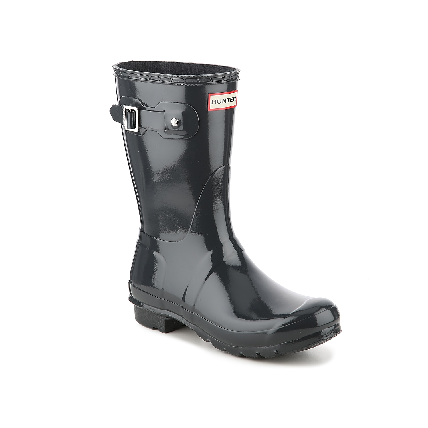Carefully crafted from 28 separate parts, the Hunter Original Short Gloss rain boot is assembled by hand to ensure superior quality. Industry-approved waterproofing means that these weather-ready boots will hold up to a wide range of conditions, from pleasant drizzles to cracking thunderstorms.Click here for Boot Measuring Guide.