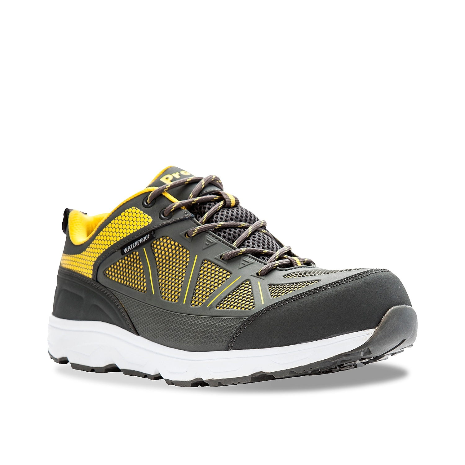 Walk those tough terrains any day of the week when wearing the men\\\'s Seely trail shoe from Propet. This low-top features a waterproof construction and a composite toe that will keep you feeling safe within every stride you take!