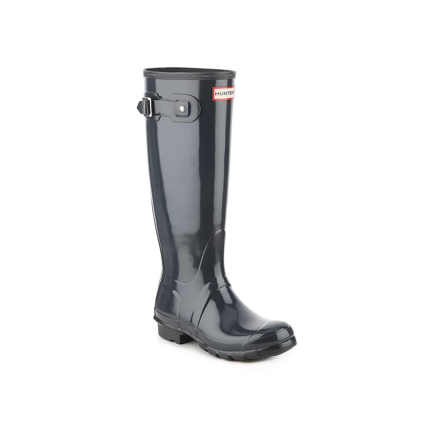 Carefully crafted from 28 separate parts, the Hunter Original Tall Gloss rain boot is assembled by hand to ensure superior quality. Industry-approved waterproofing means that these weather-ready boots will hold up to a wide range of conditions, from pleasant drizzles to cracking thunderstorms. Click here for Boot Measuring Guide.