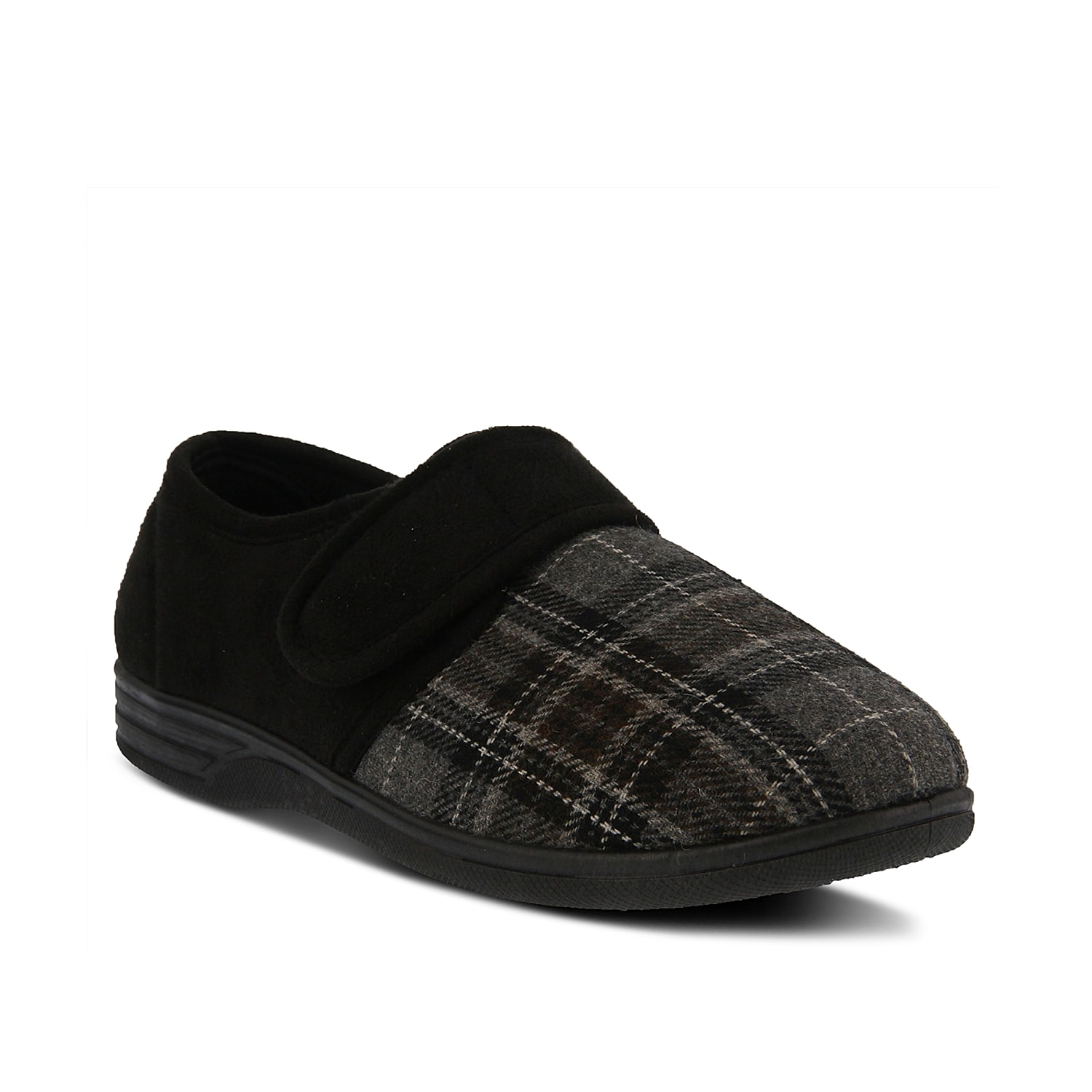Staying cozy just got alot easier with the Boris slipper from Spring Step. Featuring a soft flannel construction and adjustable hook and loop strap, this slipper will have you feeling comfortable and secure.