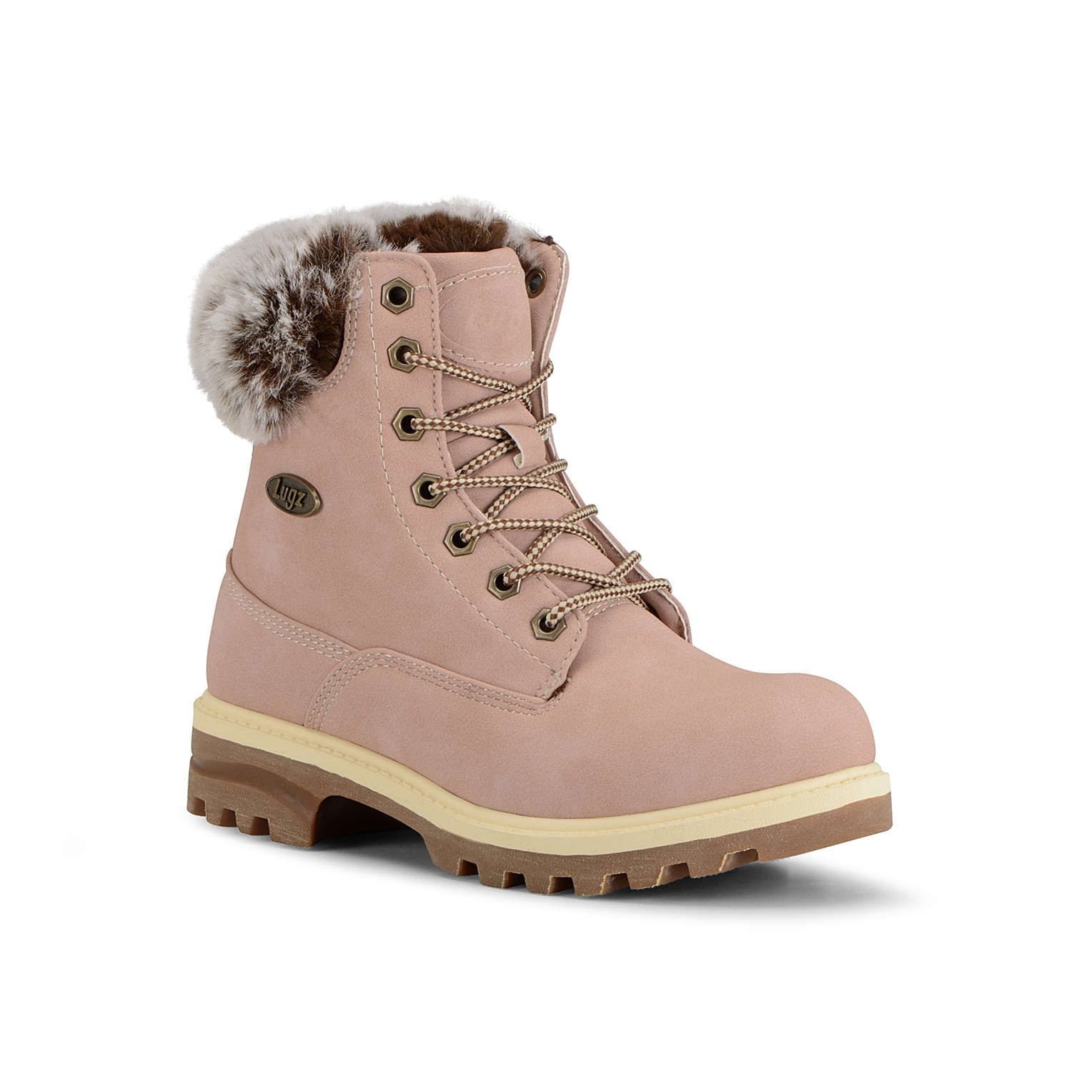 Keep your shoe collection right on trend with the Empire Hi Fur bootie from Lugz. This lace-up features a water-resistant finish and a slip-resisant rubber sole that you can pair with anything from jeans to sweater dresses! Click here for Boot Measuring Guide.