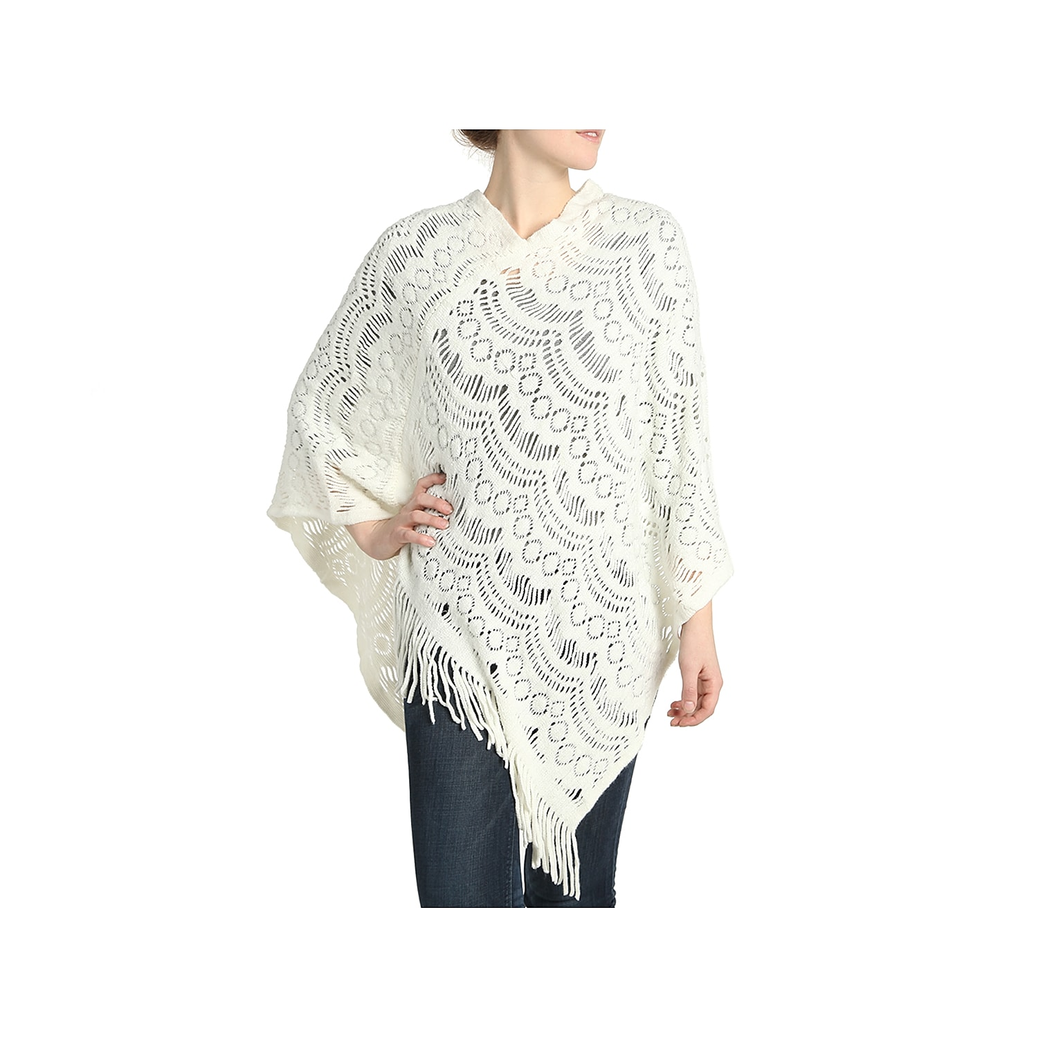 Throw on the Easy Breezy poncho from Kelly & Katie with your favorite pair of jeans to stay cozy all season long. A thick knit construction and fringe trim finishes this wrap for trendy style. Want more style inspiration? Click hereto shop accessories!