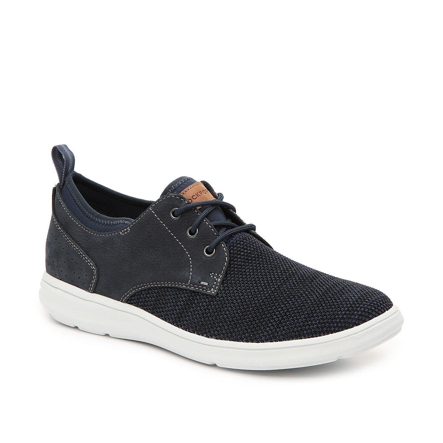 The Zaden sneaker from Rockport will go with anything in your wardrobe. Finished with an EVA midsole and truTECH® memory foam footbed, this leather lace-up will keep you comfortable all day long.