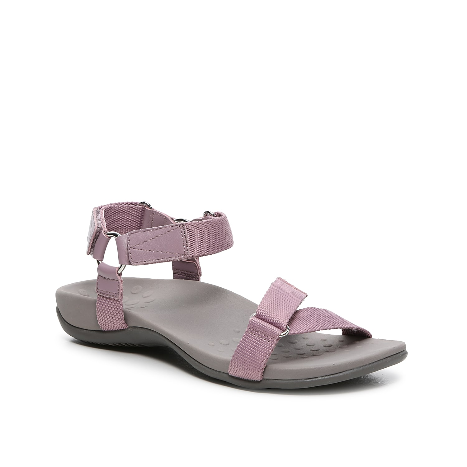 Go far distances in the Rest Candace sandal from Vionic. This pair features a sporty design and a contoured cushioned footbed to keep your feet feeling supported wherever you roam.
