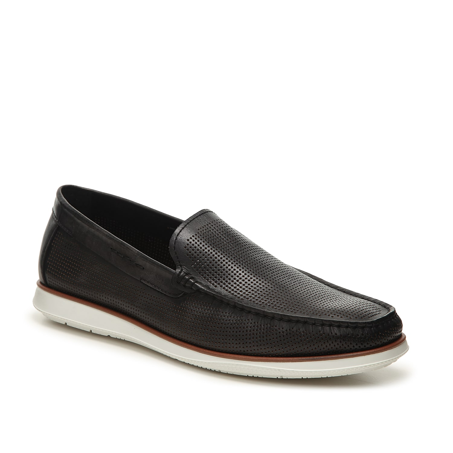 The Cyrus loafer from Kenneth Cole New York is perfect for your everyday shoe. This slip-on features a Techni-Cole™ cushioned footbed and a perforated leather that will keep your style looking fresh!