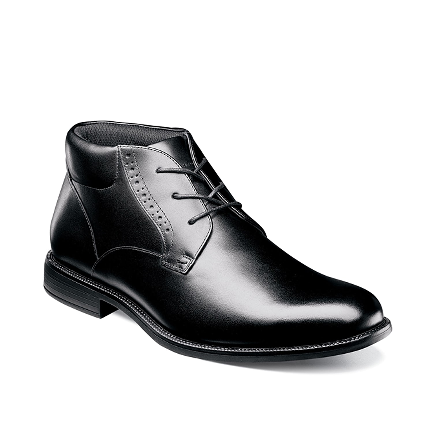 Feel nothing less than dapper when wearing the Nantucket chukka boot from Nunn Bush. This lace-up features a waterproof leather construction and an anti-slip rubber sole that will be great for all weather traction.