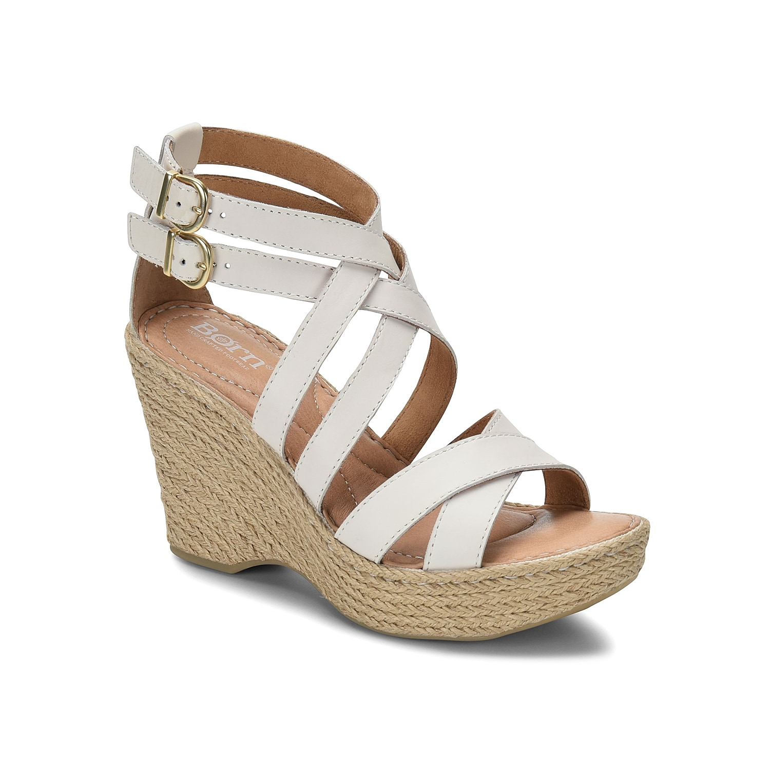 Elevate your entire look with the Sultry wedge sandal from Born. This silhouette is fashioned with leather straps sitting atop of an espadrille midsole that will give your ensemble a modern style!