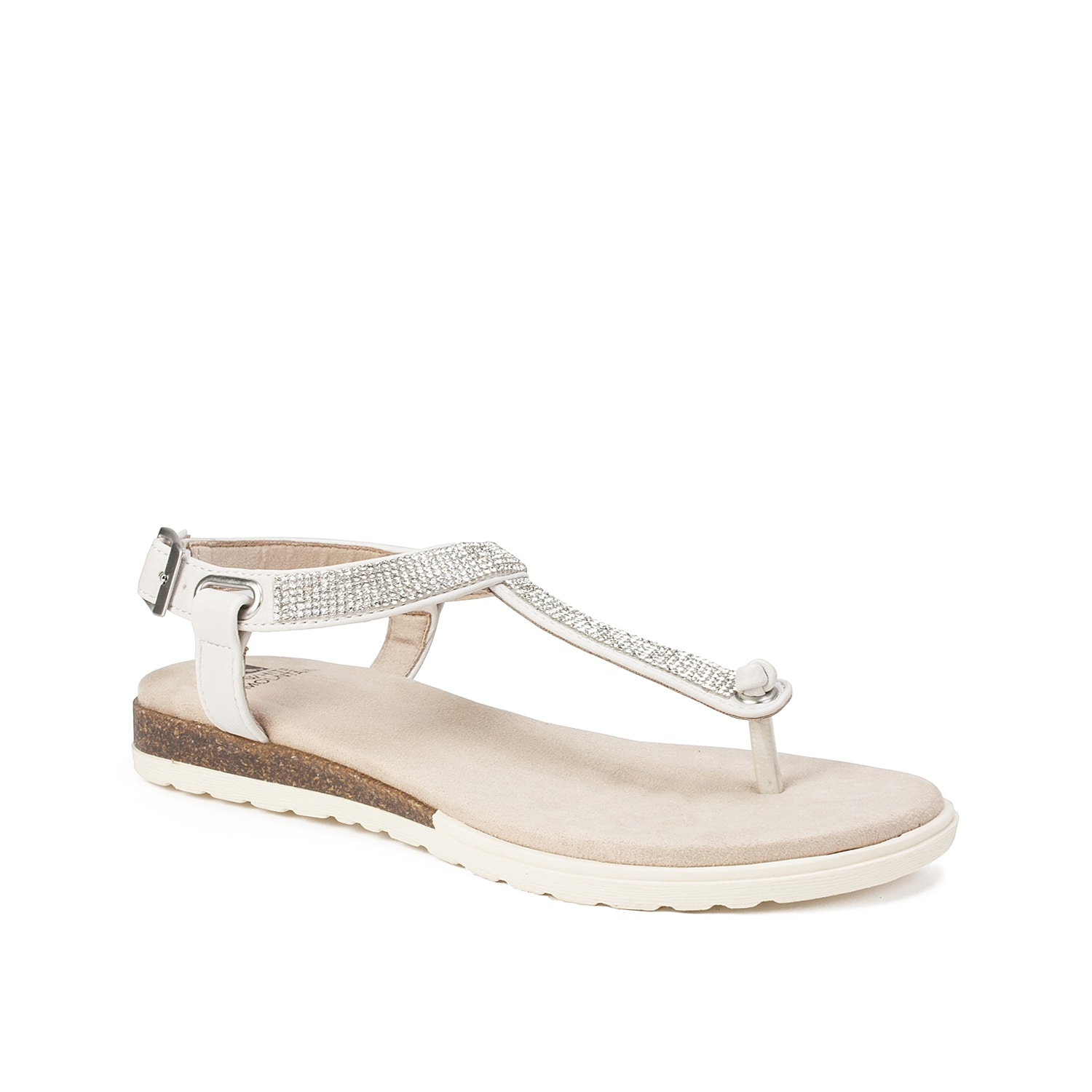 The Parana sandal from White Mountain are the perfect fit for your rotating wardrobe. This casual pair is fashioned with rhinestone embellishments and a cushioned footbed for all the style and comfort you need.