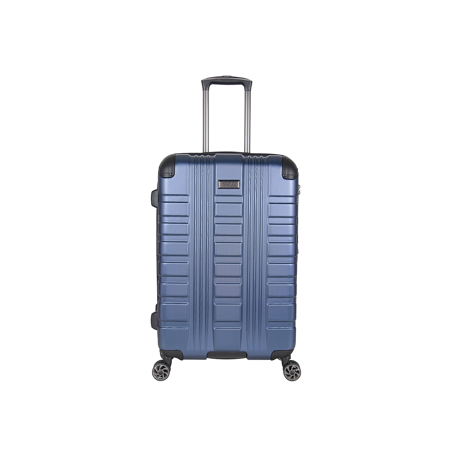 Cruise through airport terminals when you travel with the Kenneth Cole Embossed expandable suitcase. This lightweight luggage is fitted with 4 multi-directional spinners and a durable hardcase exterior that\\\'s protected by molded corner guards. Self-repairing coil zippers endure long-lasting use, and a built-in TSA lock keeps your valuables secure.