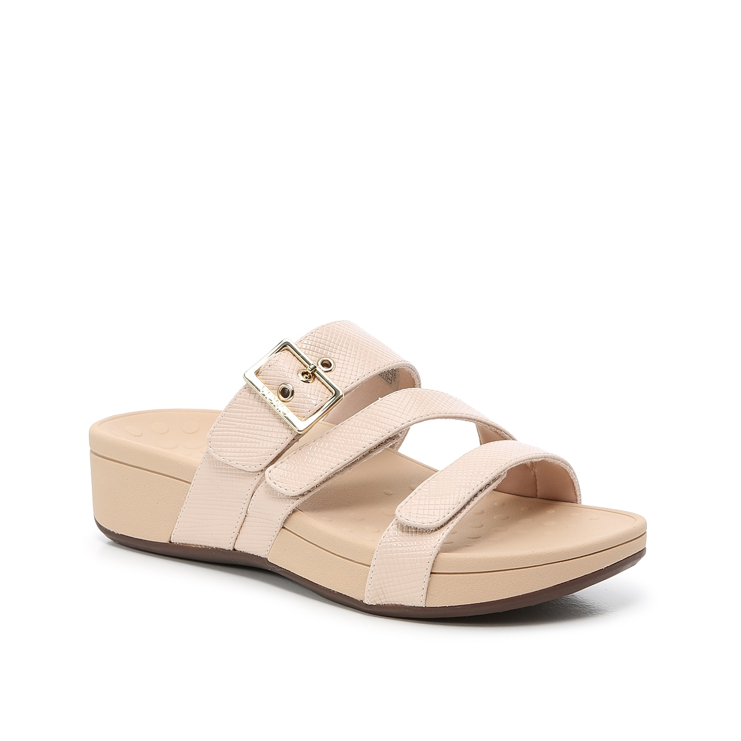 Add pep to every step with the Rio sandals from Vionic. These platforms feature adjustable straps and a molded wedge heel for daylong support.