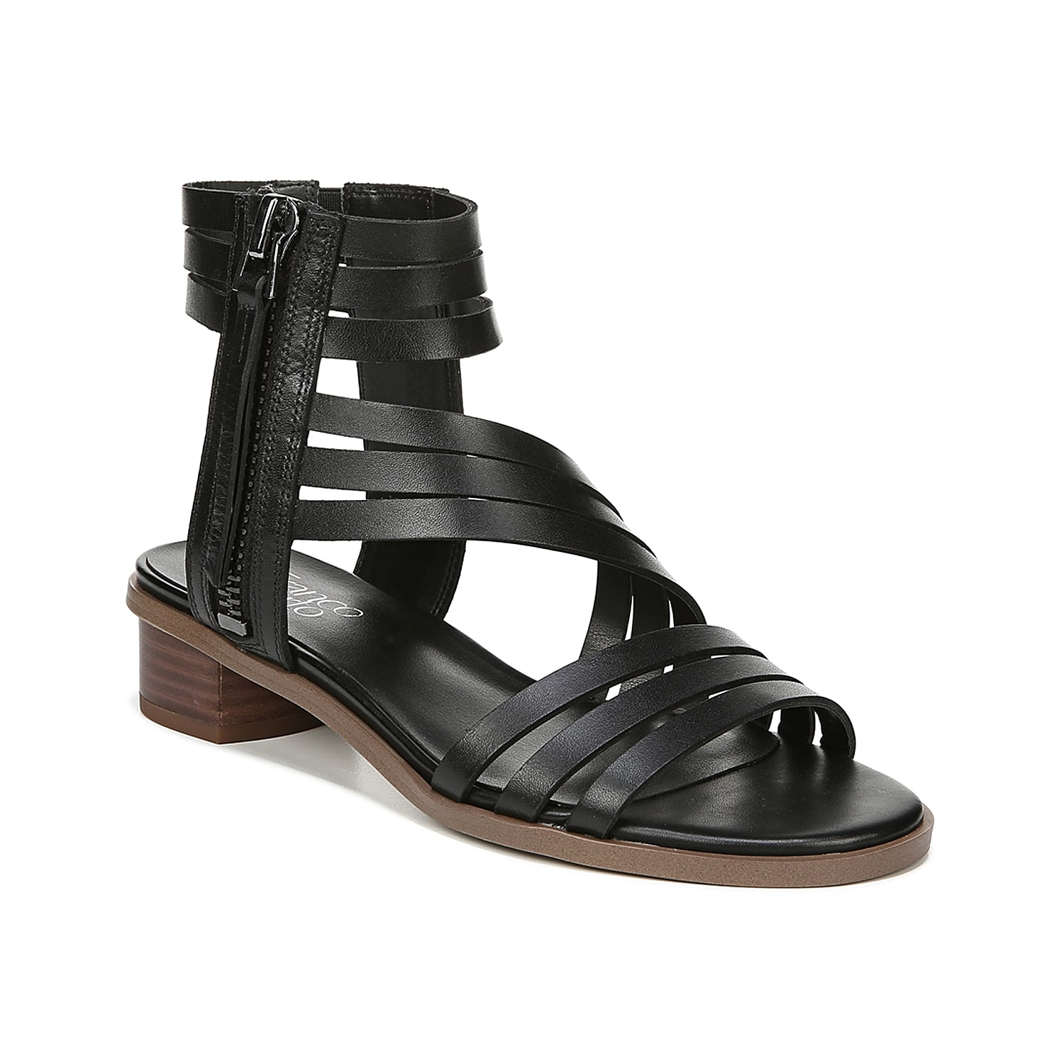 Bring a bit of attitude to your outfit with the Elma sandal from Franco Sarto. This leather pair features dramatic straps and is complete with a low block heel for a hint of height.