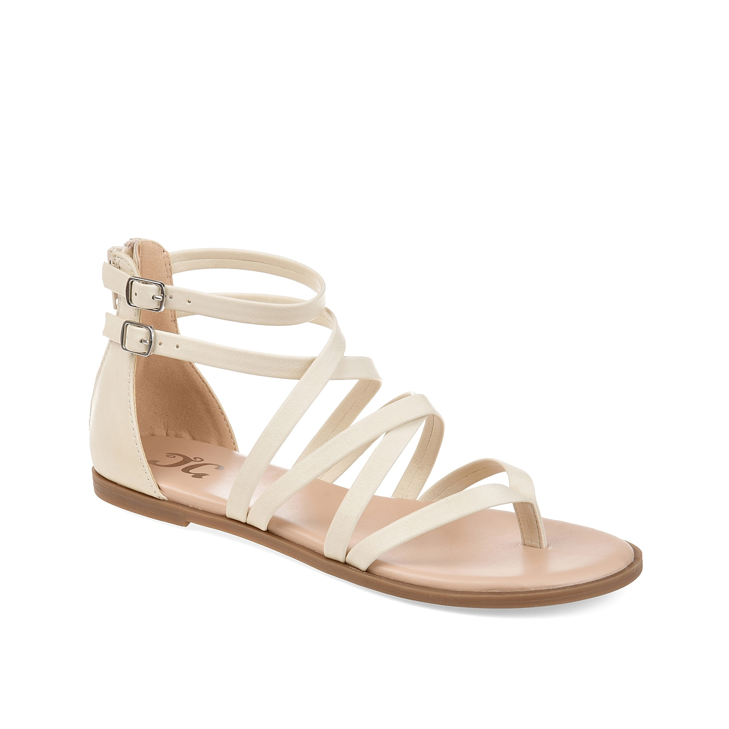 With a gladiator inspired silhouette, the Zailie sandal from Journee Collection will add a classic finishing touch to your warm weather look. Strappy styling and decorative buckles are upgraded with a cushioned footbed for all-day support.