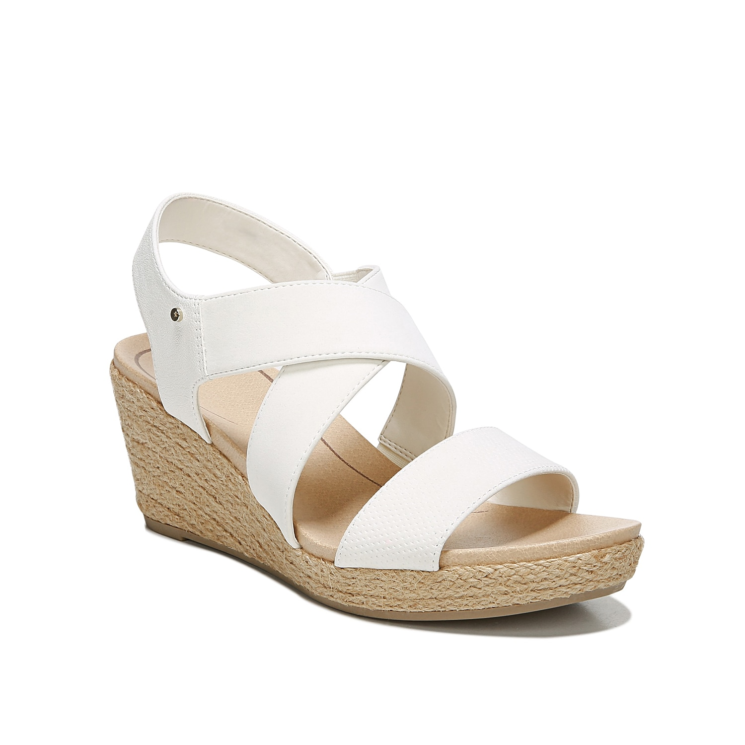 The Emerge wedge sandal from Dr. Scholl\\\'s flaunts an espadrille heel to give your look that laid-back vibe. Pair this strappy sandal with your favorite pair of capris and a flowy top to stay right on trend.