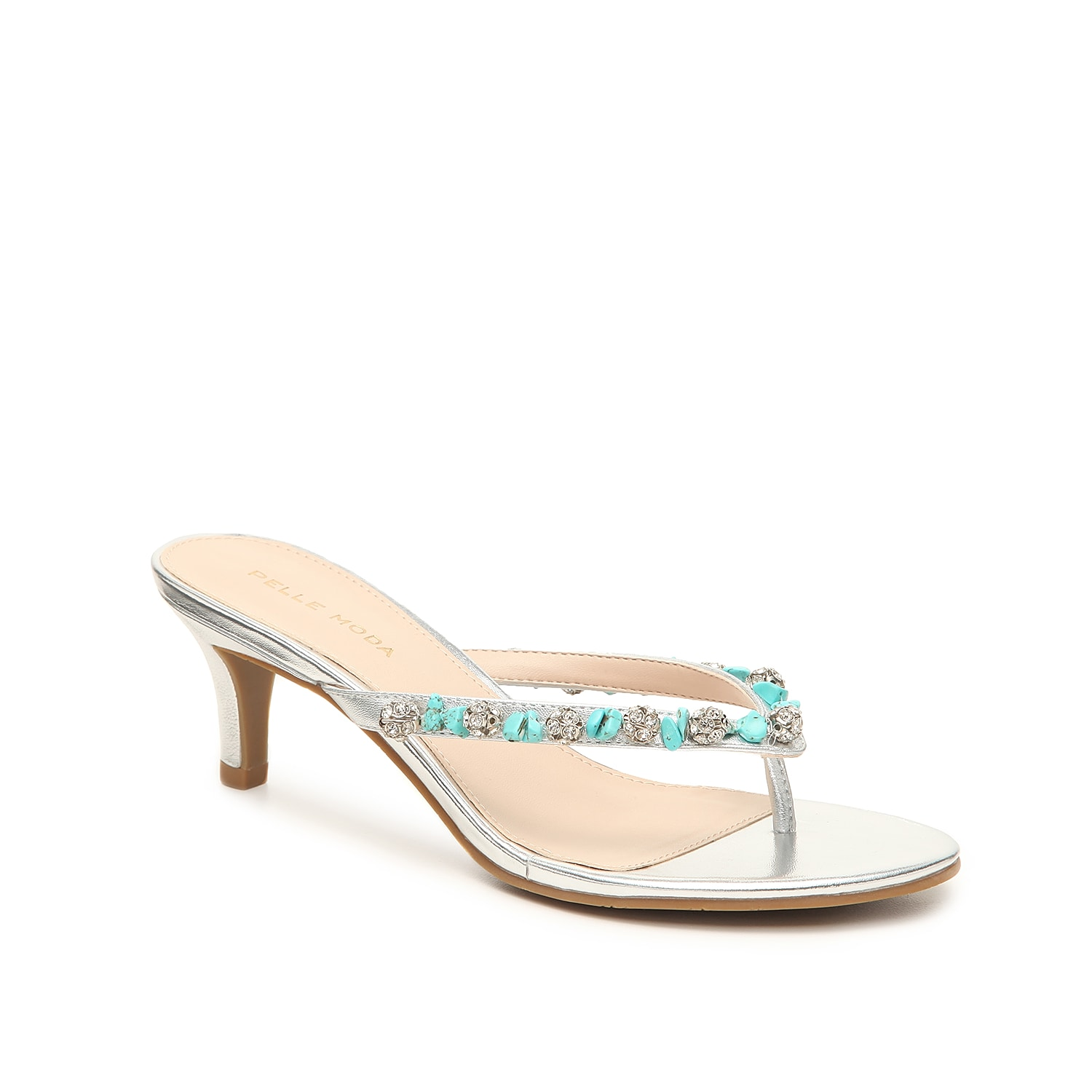 The Stella sandal from Pelle Moda will fulfill your shoe requirements. The slip-on styling and rock and stud embellishments will give your ensemble a stylish finishing touch!