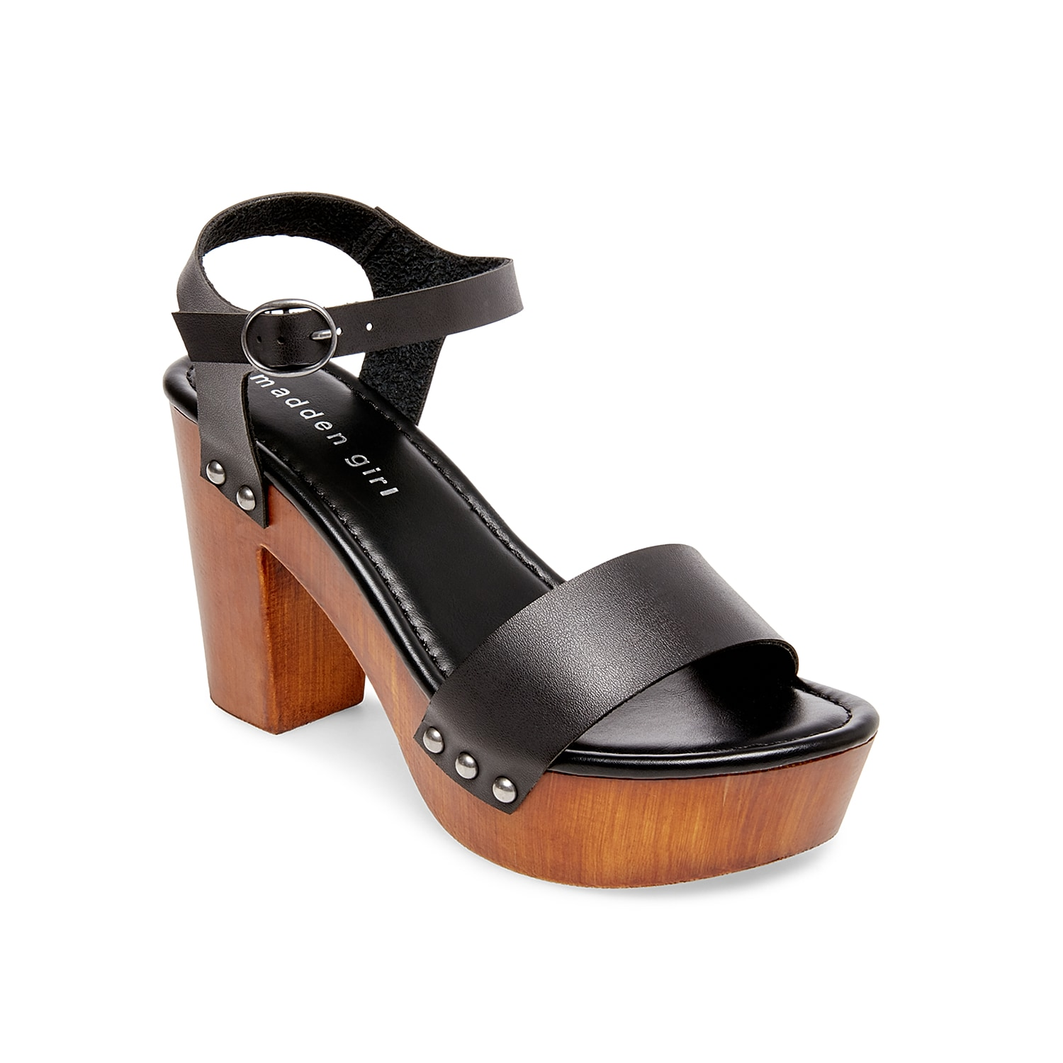 Feel nothing but fabulous when wearing the Lifft platform sandal from Madden Girl. This towering silhouette is fashioned with two-piece styling and stud accents for a little extra edge!