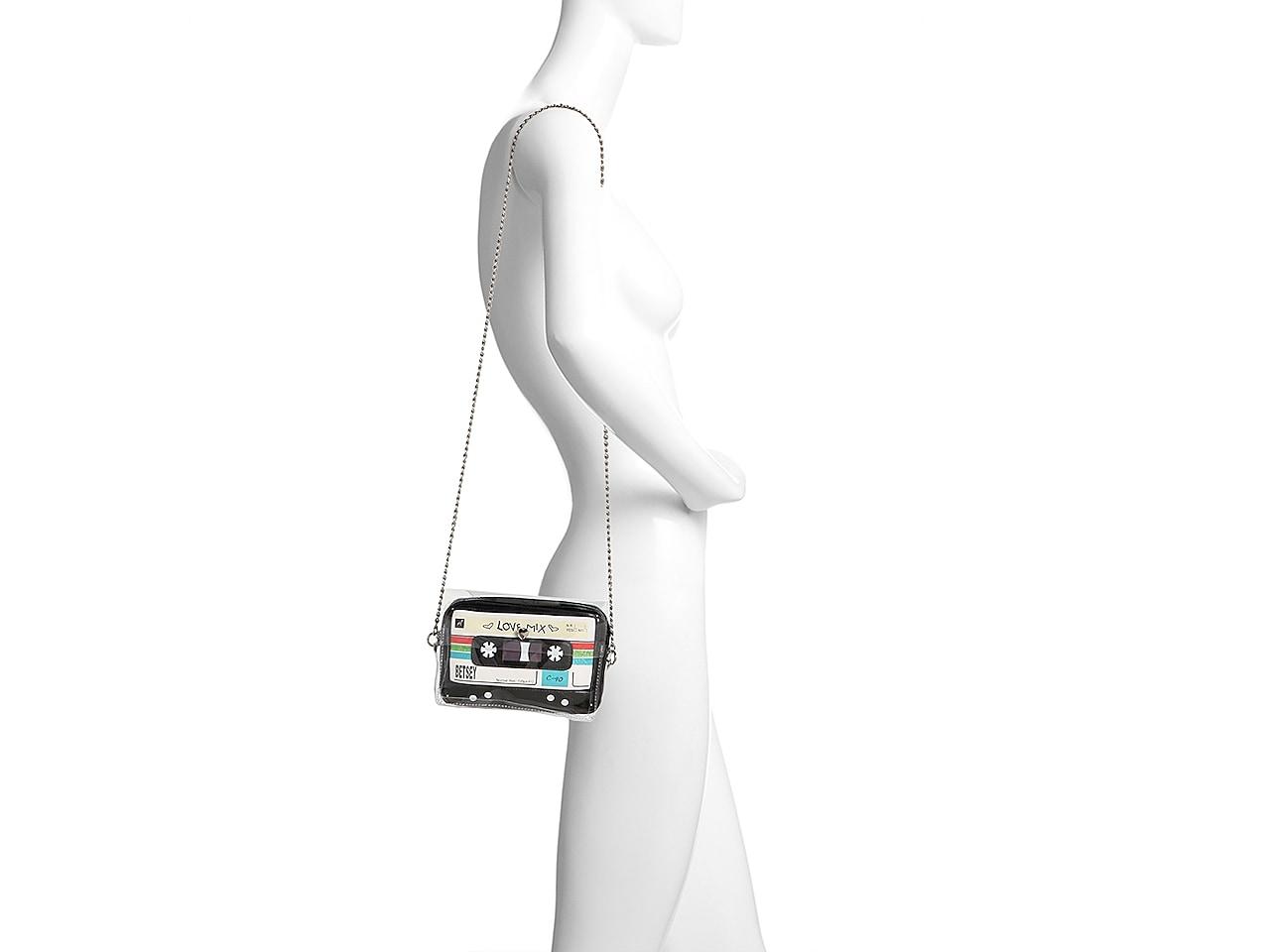 $68  Betsey Johnson Betsey/'s Mixed Tape Crossbody Bag A30//A6