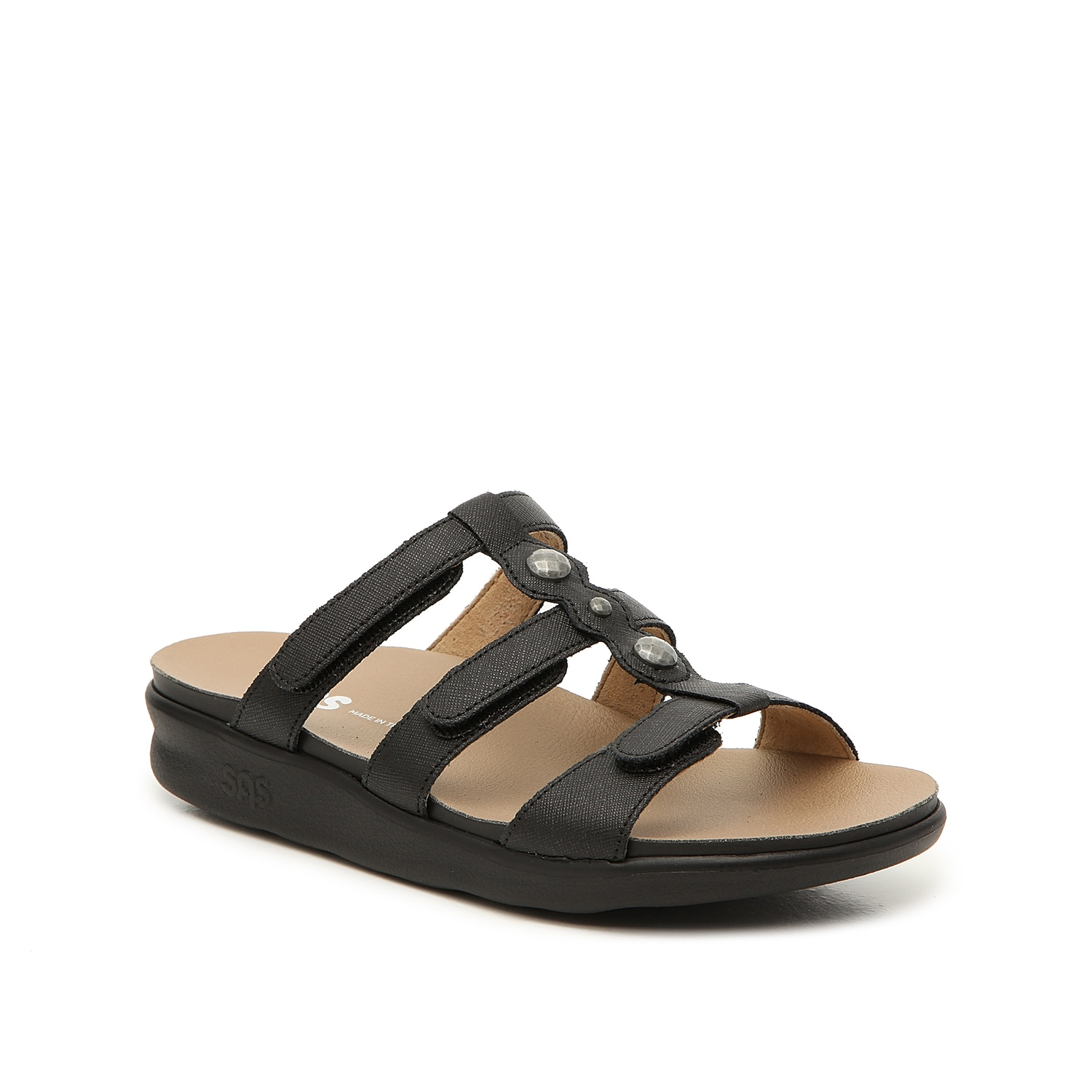 Get all the support you need and more with the Napoli wedge sandal from Sas. TheTripad® footbed is designed to cushion the three pressure points of your foot: the inside ball, outside ball, and the heel.