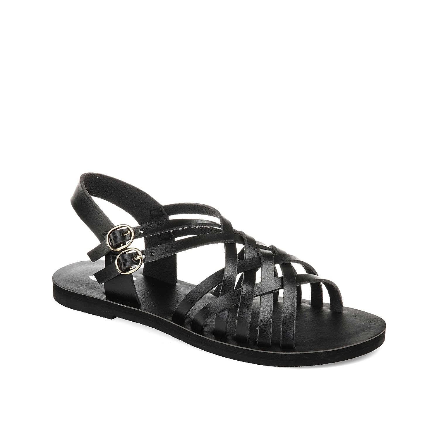 A strappy woven construction makes the Colby sandal from Journee Collection the perfect way to add boho style to your look. Pair this sleek sandal with your favorite dresses and skirts to stay on trend all summer long.