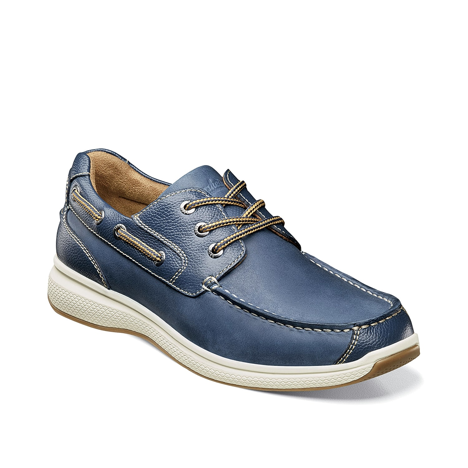 Feel dashing in the Great Lakes boat shoe from Florsheim. These leather slip-ons feature a classic design that will match with khaki shorts or dark wash jeans for styling versatility.