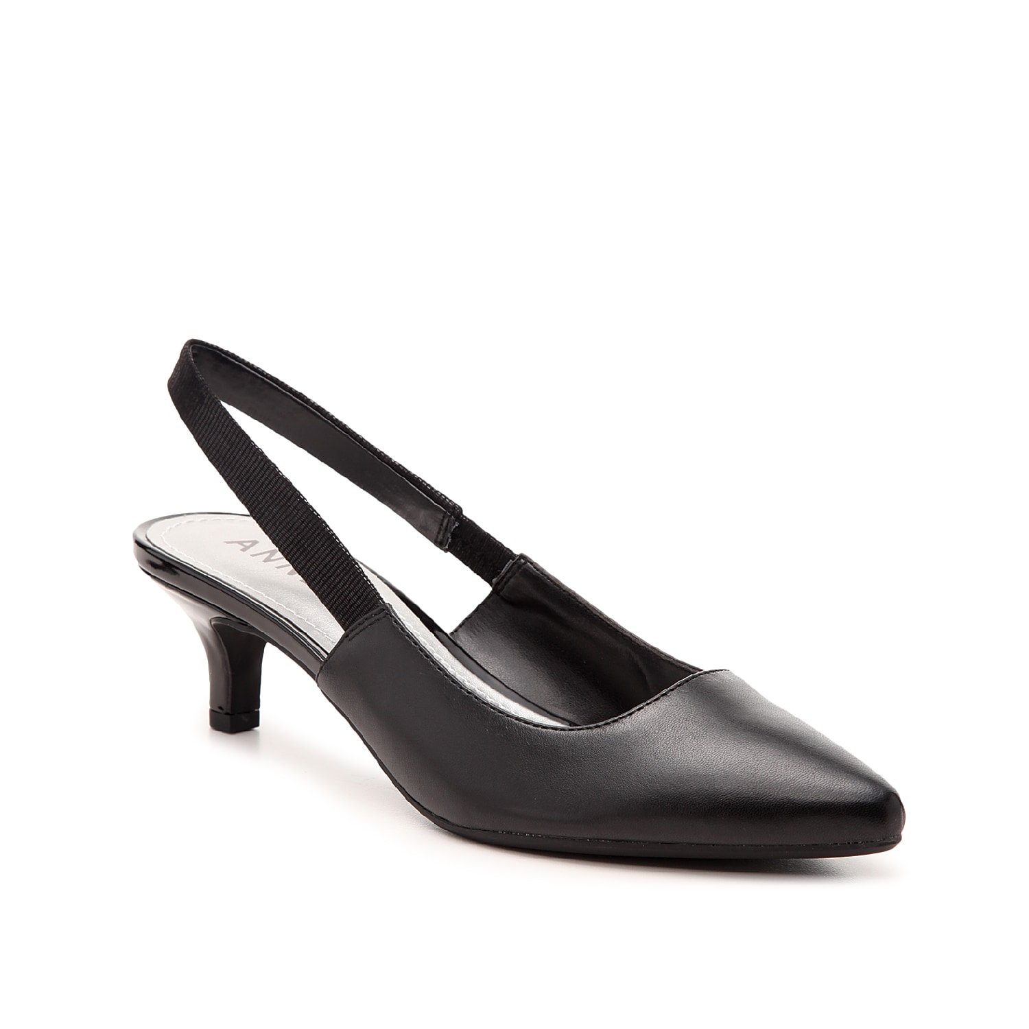 Be ready for any occasion with the Aileen pump from Anne Klein. These slingbacks feature a polished design and classic kitten heel to enhance slacks or a pencil skirt.