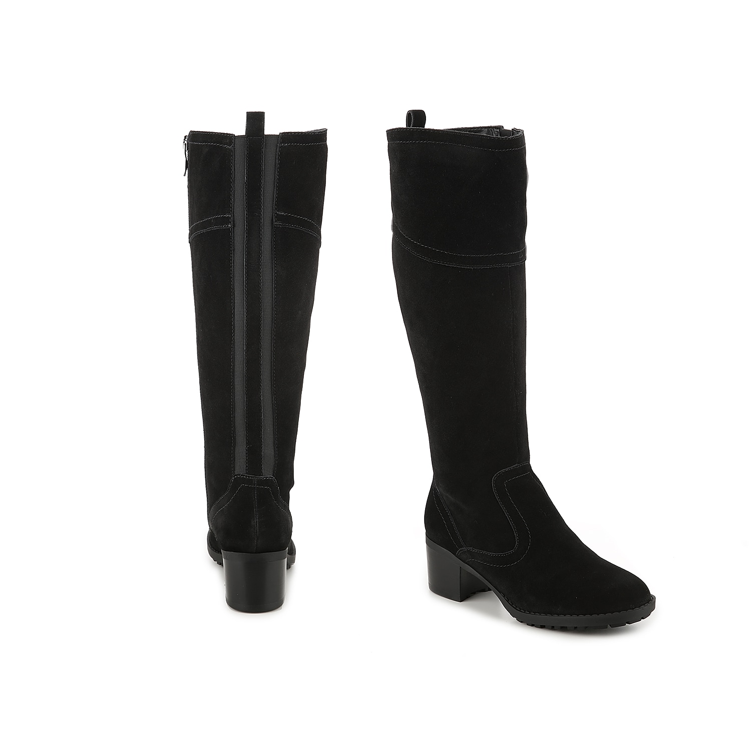 Take on the season in the savvy Grazes boot from Easy Spirit. Full-length elastic paneling along the shaft prep this tall boot with extra stretch that feels comfy and custom-fitted to you! Click here for Boot Measuring Guide.