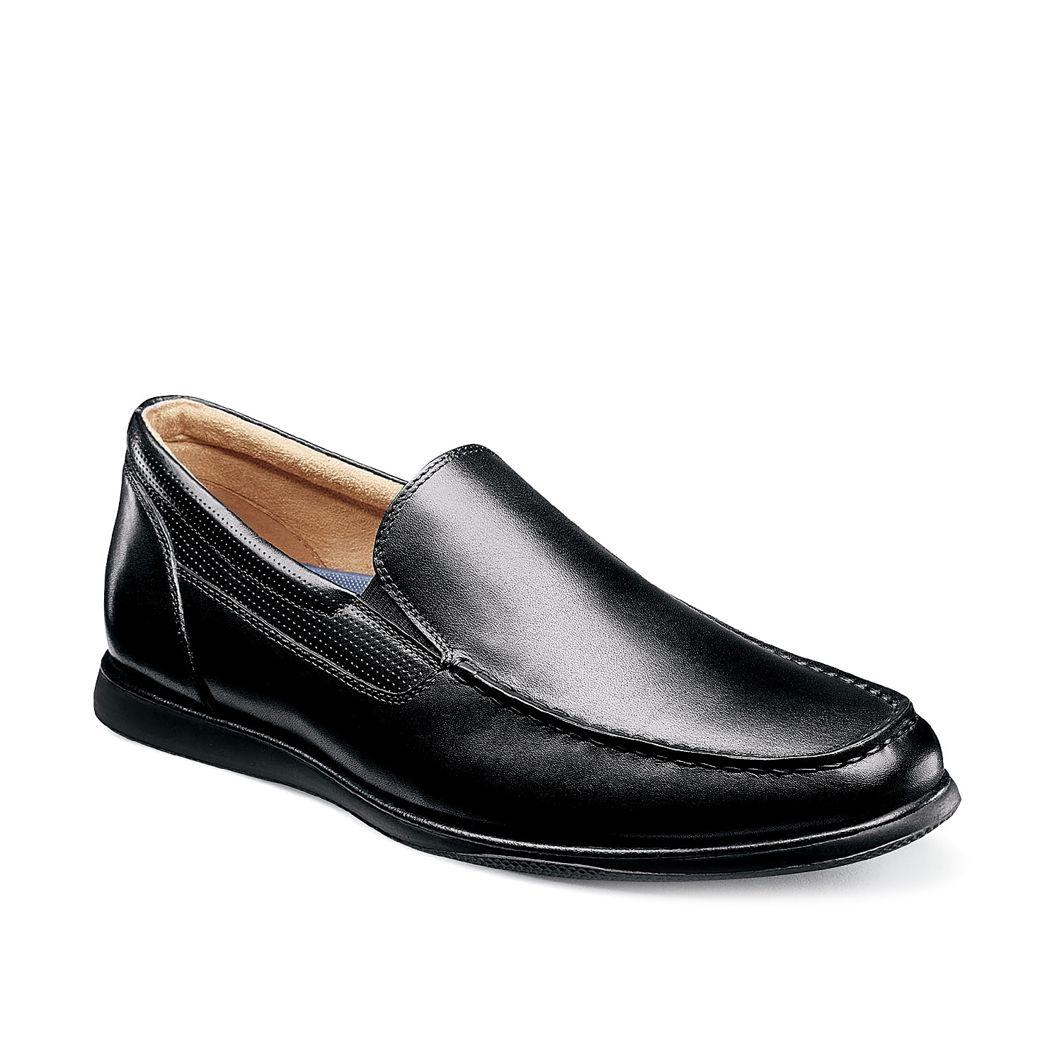 The Atlantic loafer from Florsheim is a versatile addition to your wardrobe. These leather slip-ons feature modern perforated accents at the topline and are finished with a molded midsole for extra support.
