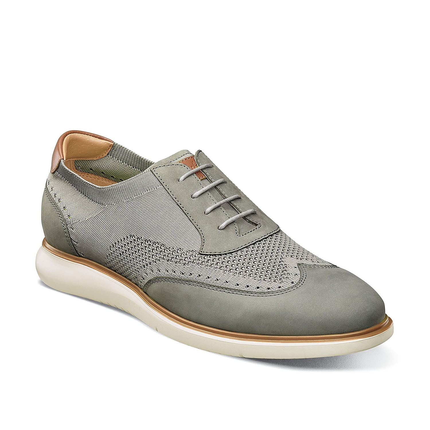 Go between casual and refined with the Fuel Knit oxfords from Florsheim. These lace-ups feature a mixed-material design and wingtip detailing for classic flair.