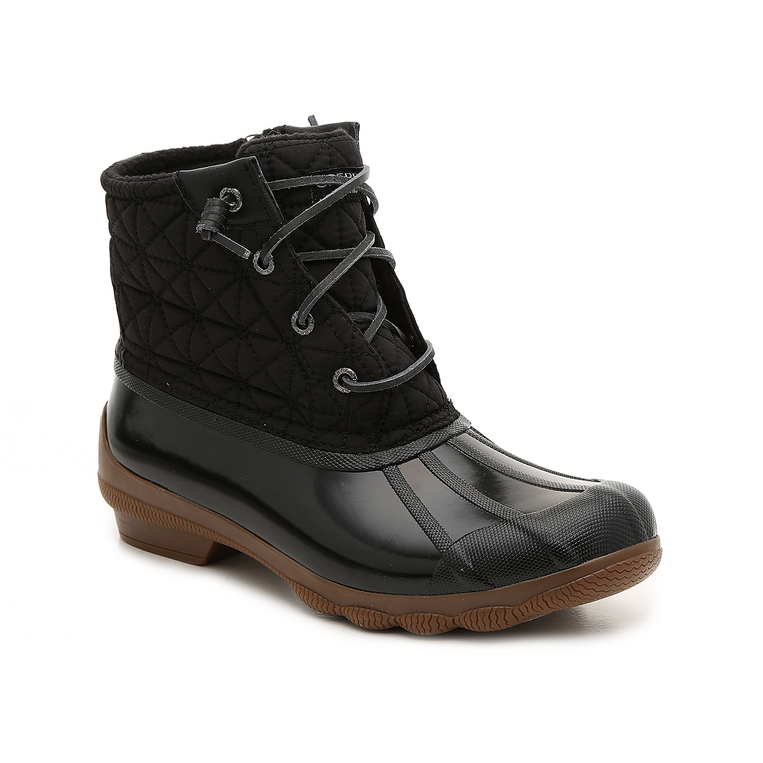 Zip up the Syren Gulf duck boot from Sperry to complete your cold-weather look. These booties feature a warm microfleece lining to keep feet cozy and are finished with a traction sole for steady steps.