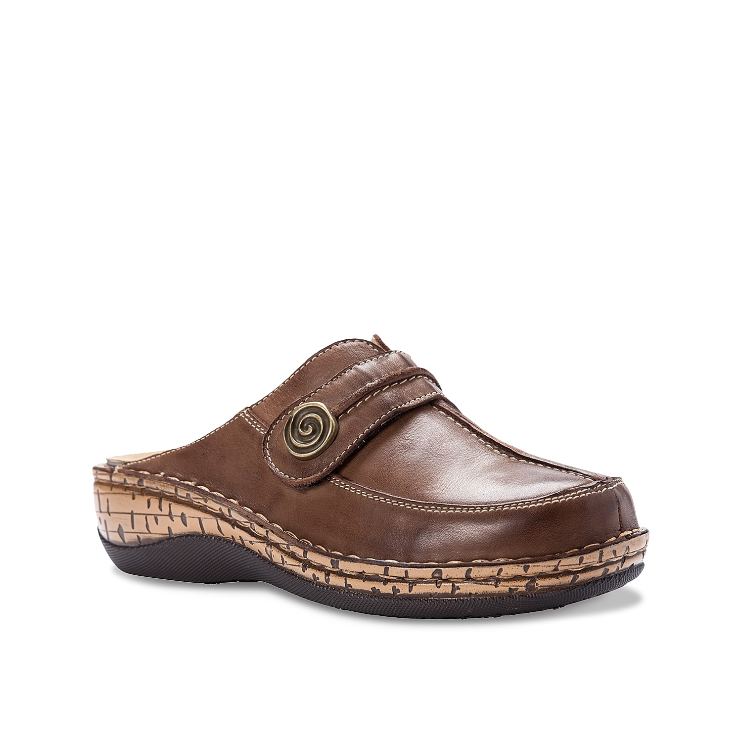Stay on your feet in the Jana clogs from Propet. These work shoes feature a removable cushioned footbed for custom comfort and are complete with a slip-resistant sole for steady steps.