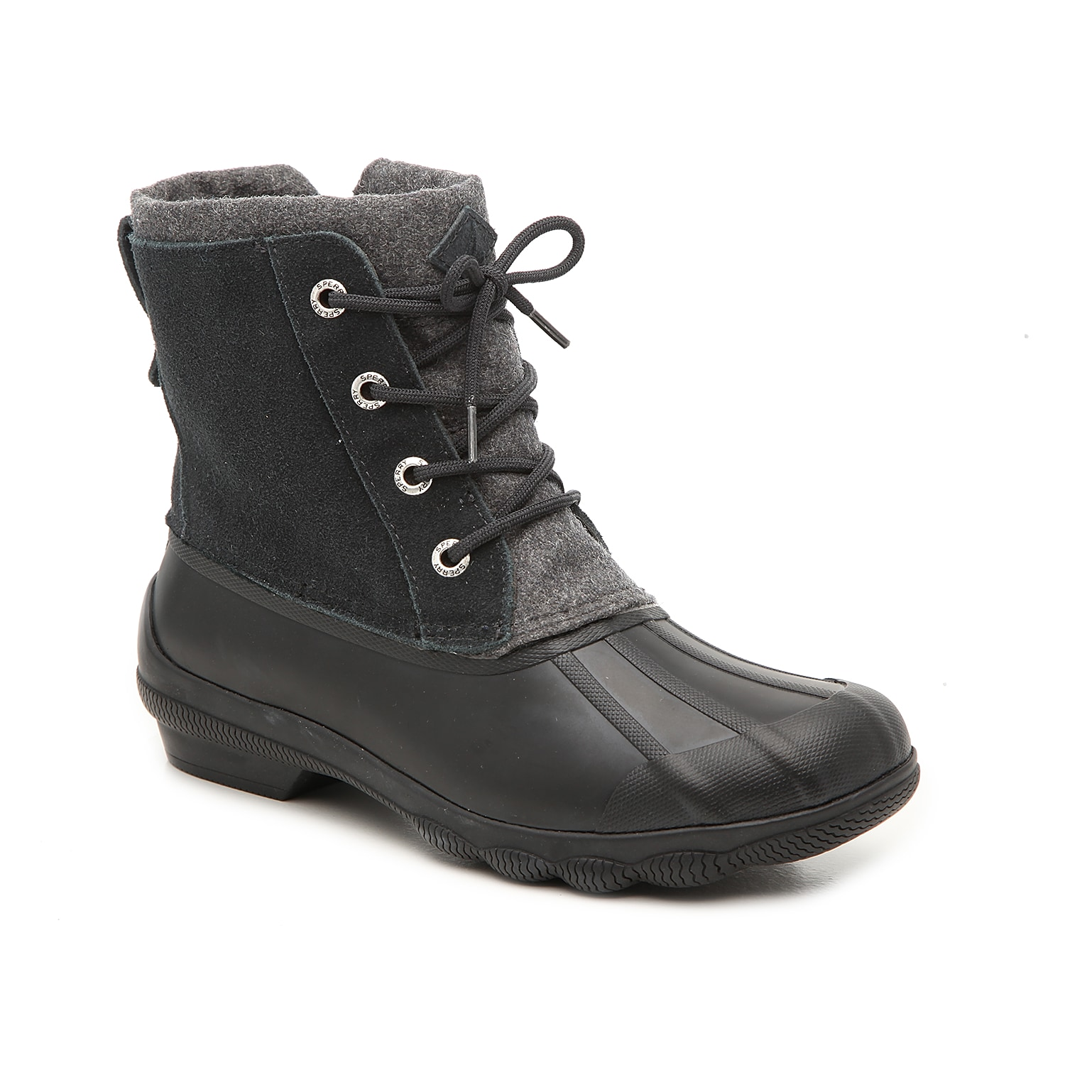 Zip up the Syren duck boots from Sperry to complete your cold-weather look. These wool-blend booties feature a warm microfleece lining to keep feet cozy and are finished with a traction sole for steady steps. Click here for Boot Measuring Guide.