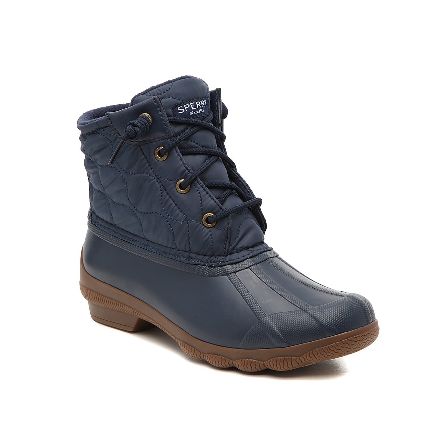 Zip up the Syren Gulf duck boots from Sperry to complete your cold-weather look. These booties feature a warm microfleece lining to keep feet cozy and are finished with a traction sole for steady steps. Click here for Boot Measuring Guide.