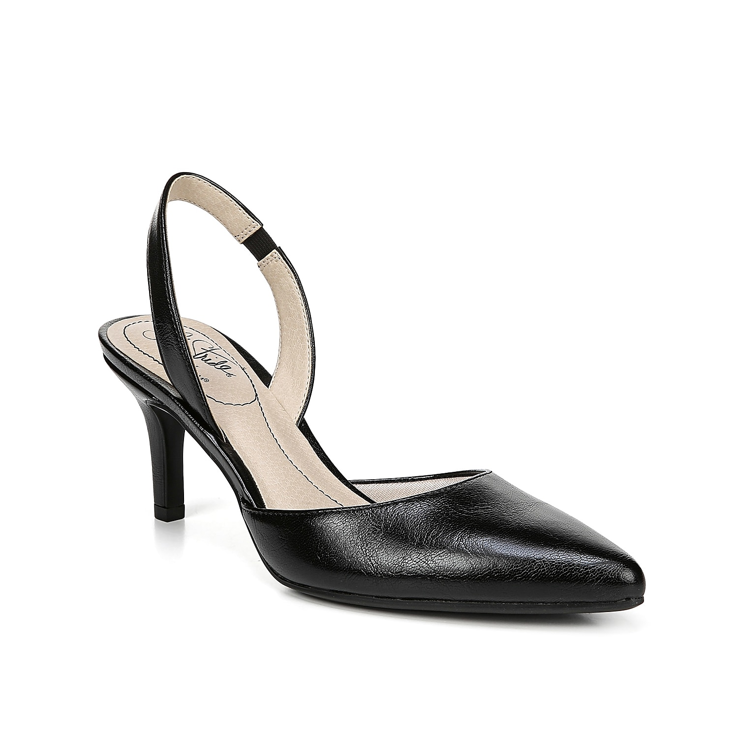 Take your outfit from work to date night with the Shane sandal from LifeStride. The simple, slingback strap and SoftSystem® footbed will keep you on your feet all night long!
