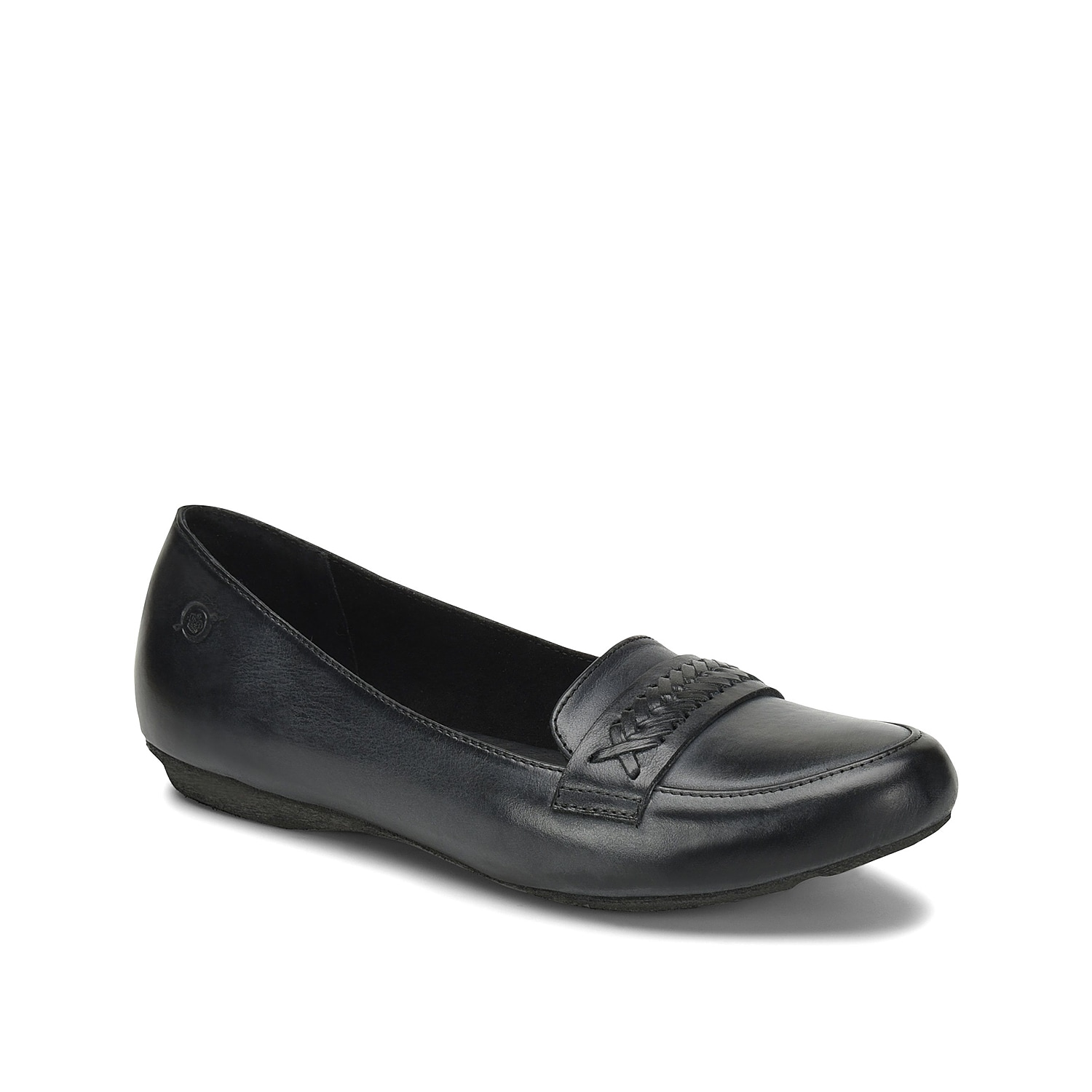 Embrace casual cool style with the Alkia loafer from Born. A woven strap accent and comfortable leather lining will make this pair your new favorite.