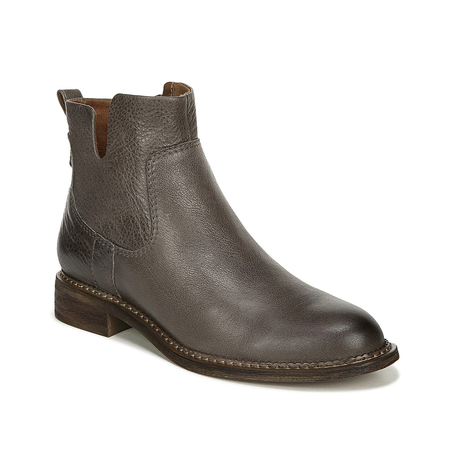 The Hoda bootie from Franco Sarto rocks a versatile design that will complement any cold weather look. The asymmetrical topline and pebbled leather upper will upgrade your jeans and sweaters.Click here for Boot Measuring Guide.
