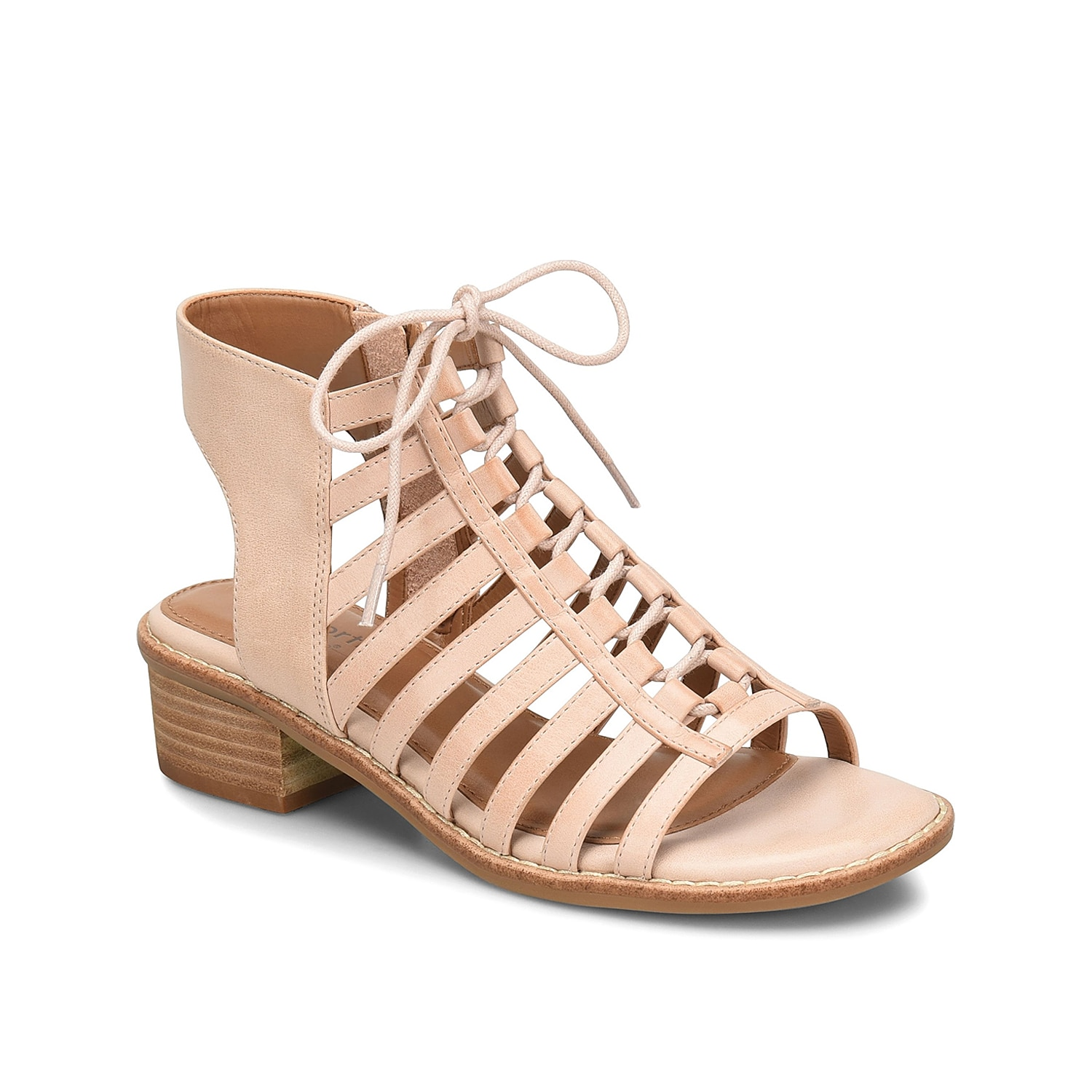 Trendy style can be comfortable! The Blossom gladiator sandal from Comfortiva features ghillie lacing and a block heel that boosts this pair for a look that you\\\'ll love rocking all summer long.
