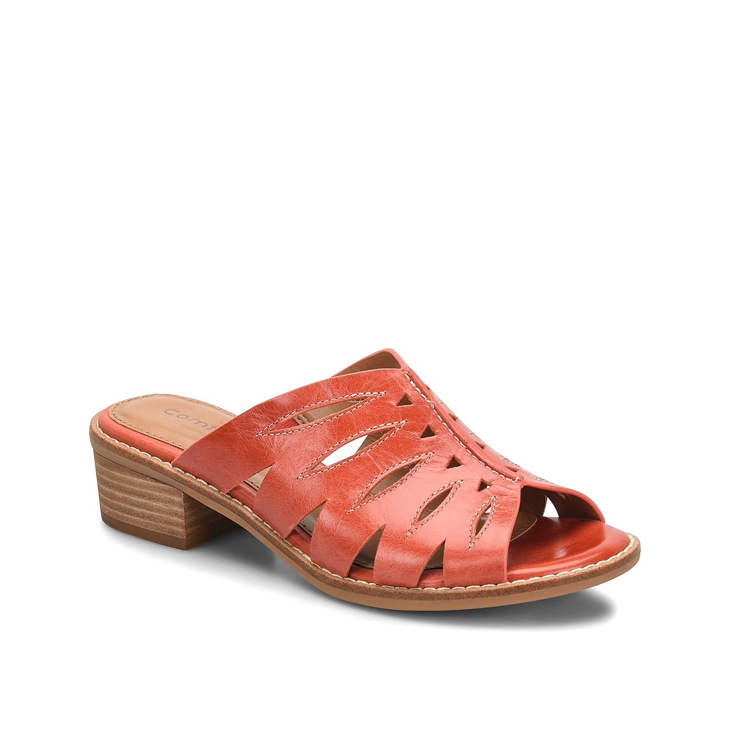 The Breah sandal from Comfortiva will be the perfect piece to complete your fabulous shoe collection. This leather pair is fashioned with laser-cut-outs and a stacked heel for all the right height!