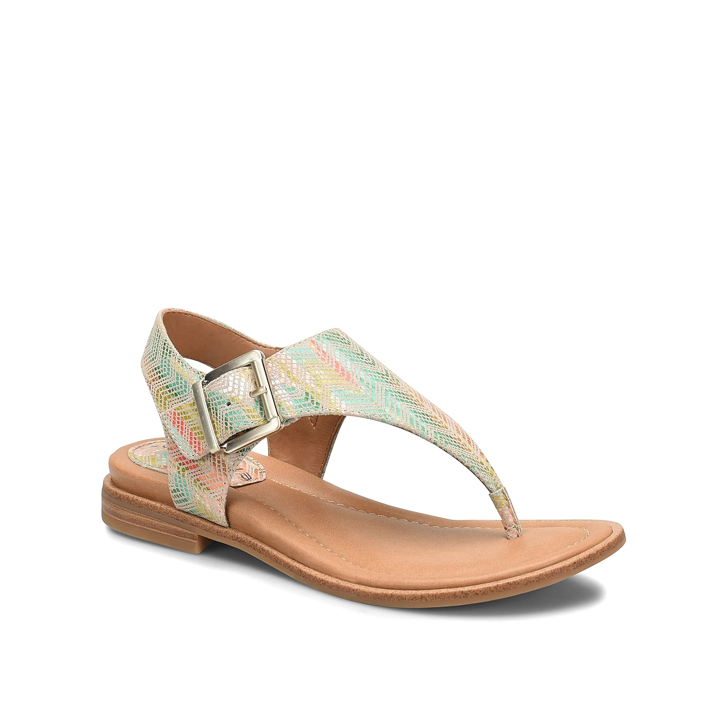 Spend your summer days wearing the Dafney sandal from Comfortiva. The leather vamp and Pillowtop® footbed will keep you on your feet hour after hour.